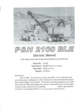 P&H 2100 BLE ELECTRIC SHOVEL (1 of 2)
