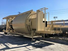CMI 1-100 TON PORTABLE SILO (HAS AXLE AND TIRES) (Ready to go to work) (3 of 5)