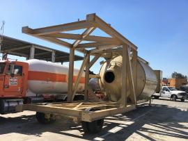 CMI 1-100 TON PORTABLE SILO (HAS AXLE AND TIRES) (Ready to go to work) (4 of 5)